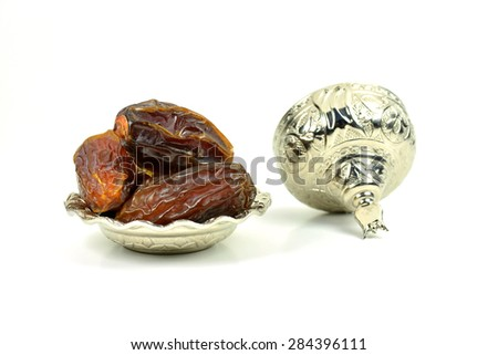 Fresh Dates for Ramadan Concept - stock photo