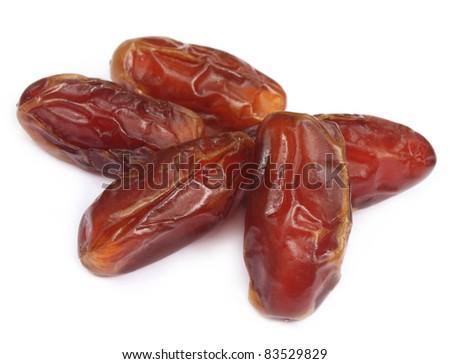 Fresh dates over white background - stock photo