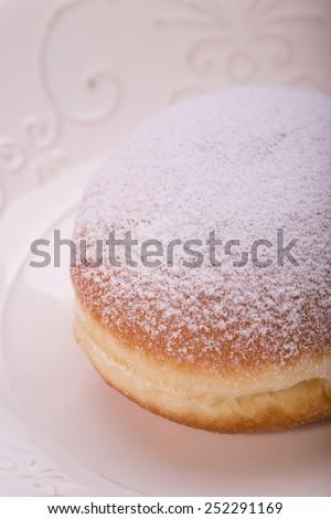 Fresh donuts. Shrove Tuesday. fat Thursday. homemade doughnuts - stock photo