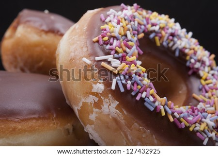 fresh Doughnuts - stock photo
