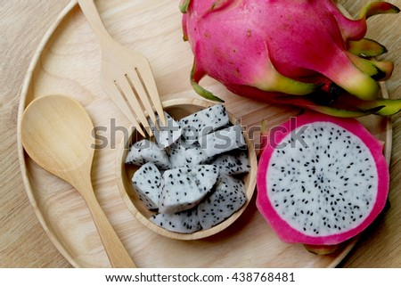Fresh Dragon Fruit  - stock photo