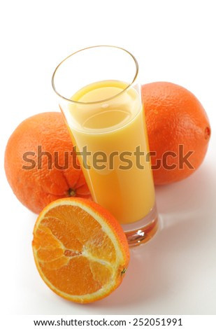 Fresh drink coctails on a color background - stock photo