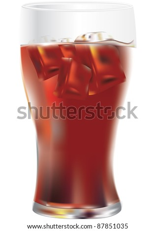 fresh drink on a white background