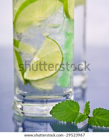 fresh drink with lemon