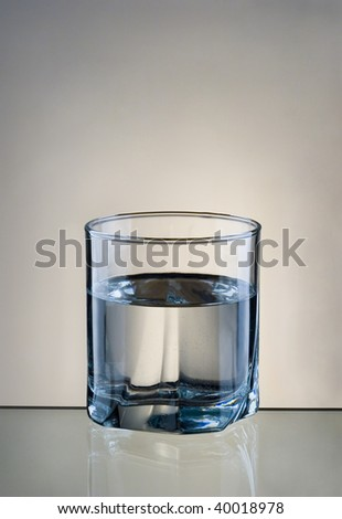 Fresh drinking water in glass - stock photo