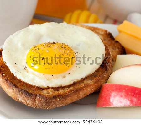 Fresh Egg and English Muffing Sandwich