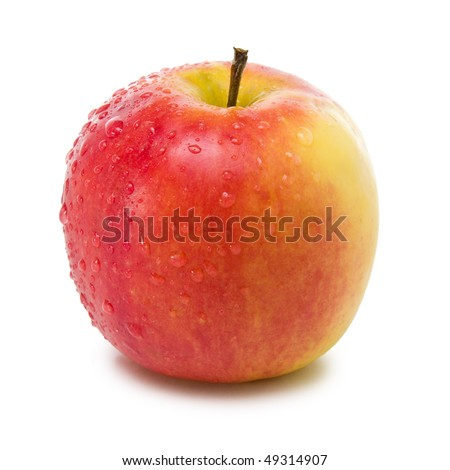fresh elstar apple isolated on white background