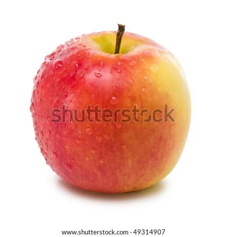 fresh elstar apple isolated on white background - stock photo