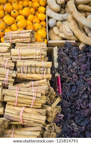 Fresh exotic spices - stock photo