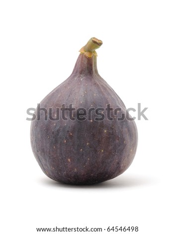 Fresh Fig Isolated on White Background - stock photo