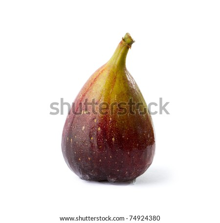 Fresh fig on white - stock photo