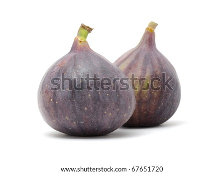Fresh Figs  Isolated on Whie Background - stock photo
