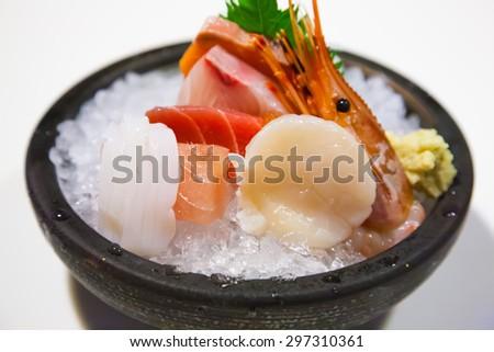 fresh fish sushi - stock photo