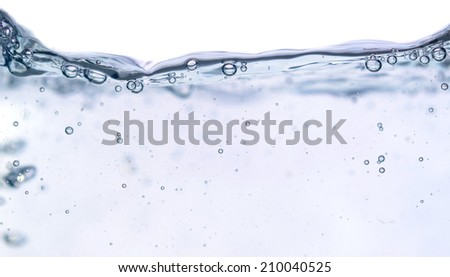 fresh flowing water against white