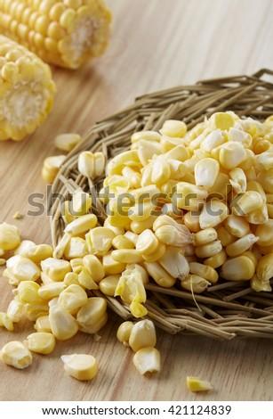 Fresh food ingredients,corn - stock photo
