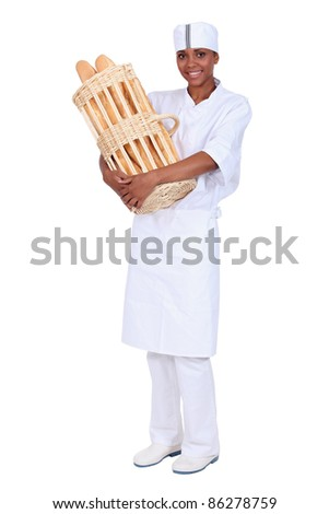 Fresh French baguette - stock photo
