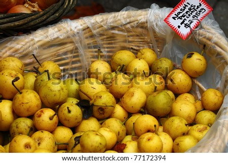 Fresh frits on Salamanca Market , Tasmania, Australia. - stock photo