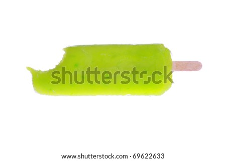 Fresh Frozen Popsicle isolated on white with room for your text - stock photo