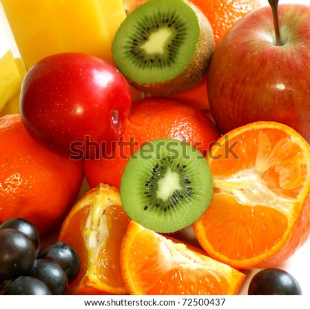 fresh fruit - stock photo