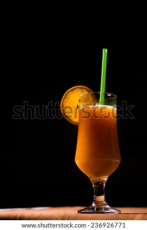 fresh fruit and vegetables mix juice, orange  - stock photo