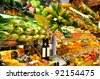Fresh fruit at a market stall - stock photo