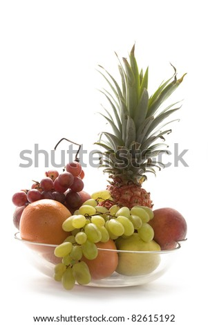 Fresh Fruit  in the bowl