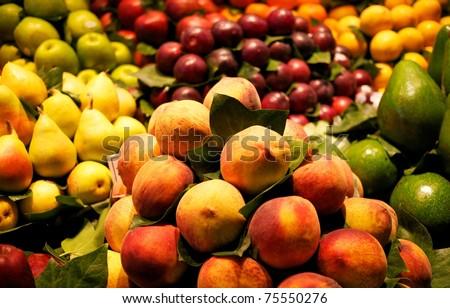 Fresh fruit market - stock photo