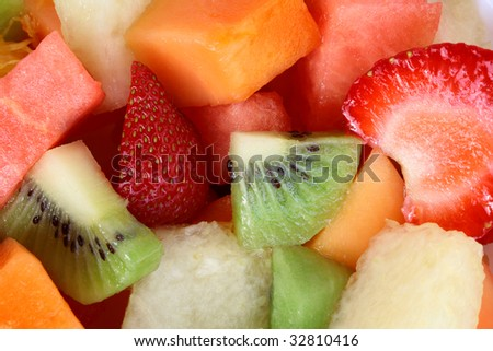 Fresh Fruit Salad background