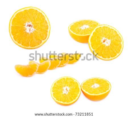 Fresh Fruit Set Isolated on White Background - stock photo