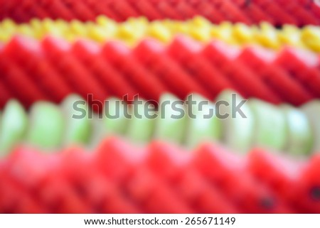 fresh fruit slice, out of focus mode - stock photo
