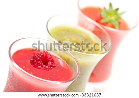 fresh fruit smoothies - stock photo