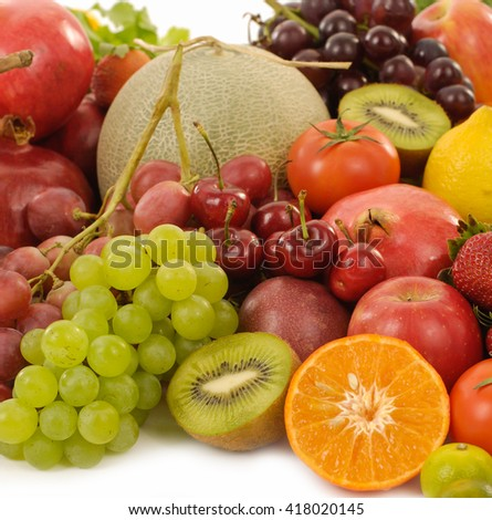 fresh fruits  - stock photo
