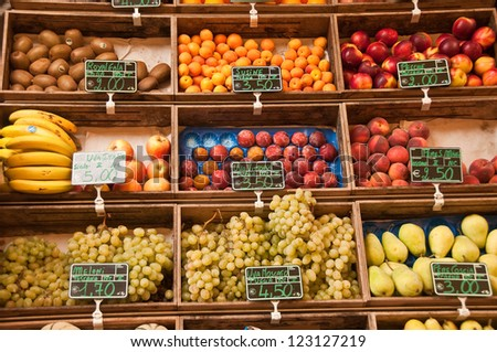 Fresh fruits at the marketplace