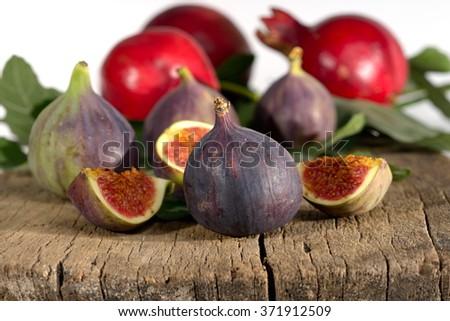 fresh fruits close-up - stock photo