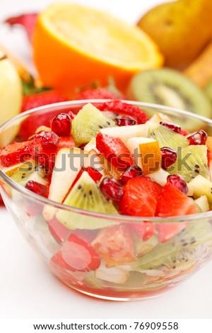 Fresh fruits salad - stock photo