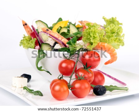 Fresh garden salad with cherry tomatoes