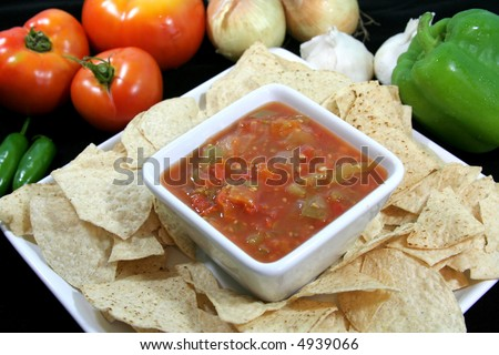 Fresh Garden Salsa - stock photo