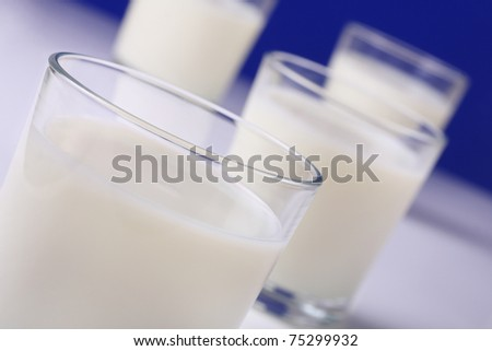 fresh glasses of milk