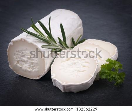 Fresh goat cheese - stock photo