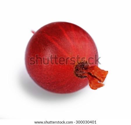 Fresh gooseberry isolated on white - stock photo