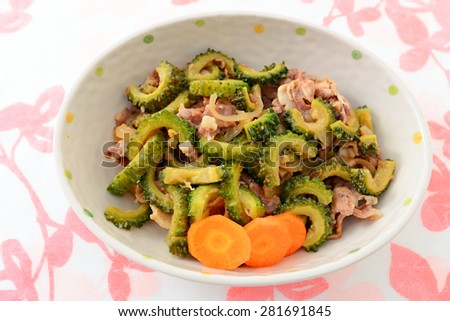 Fresh Goya salad - stock photo
