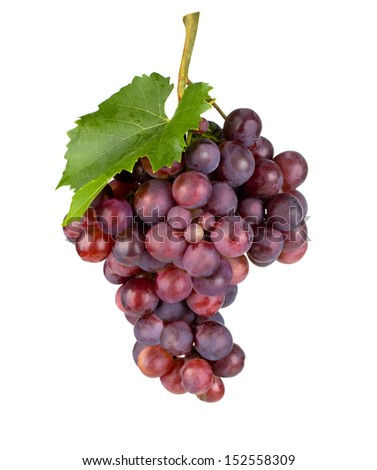 Fresh grape.Isolatede on white. with clipping path - stock photo
