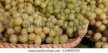 fresh grapes background
