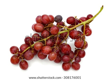 fresh grapes on white background  - stock photo