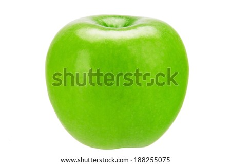 fresh green apple isolated on the white background