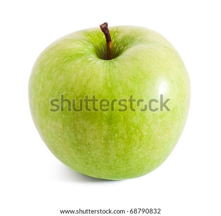 Fresh green apple isolated on white