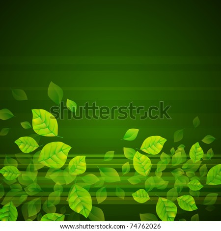 Fresh Green Background - stock photo