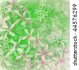 fresh green flower textured art background - stock photo