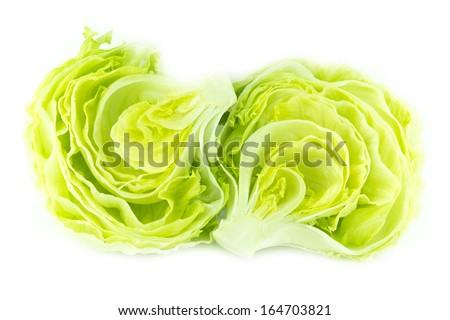 Fresh Green Iceberg lettuce . - stock photo