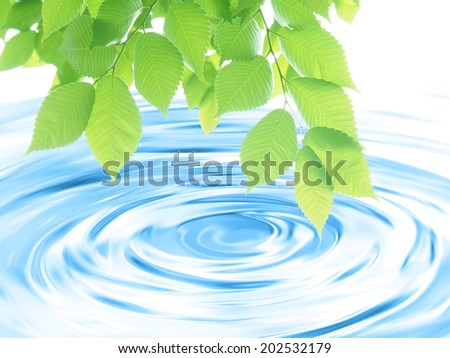 Fresh green image - stock photo